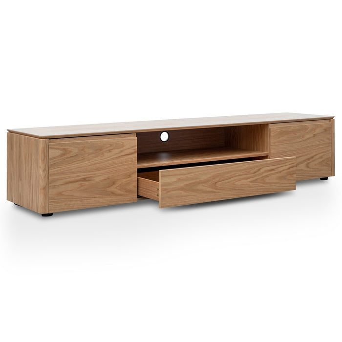 Norris Entertainment TV Unit - Nature Oak Veneer