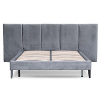Reylon Queen Bed Frame - Charcoal Velvet
