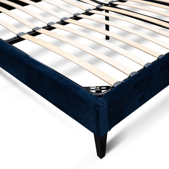 Ralph King Bed Frame - Navy Velvet