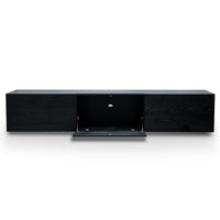 Otis 2.3m Entertainment TV Unit - Black Veneer