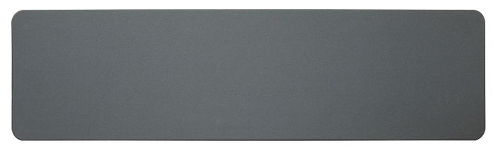 1.3 Optic Solid Panel - Charcoal Fabric