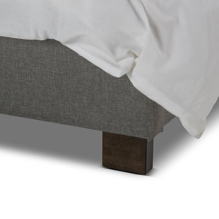 Rhea Fabric Double Bed Frame - Light Grey