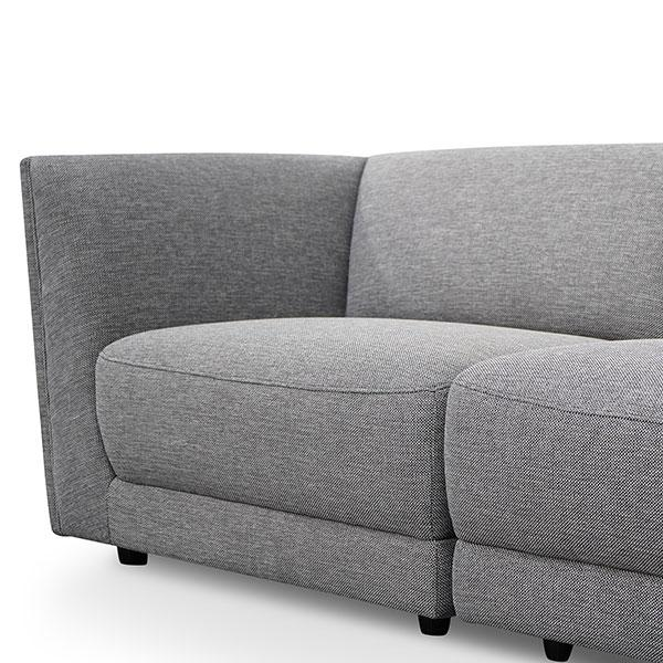 Bradford 5 Seater Corner Fabric Sofa - Graphite Grey