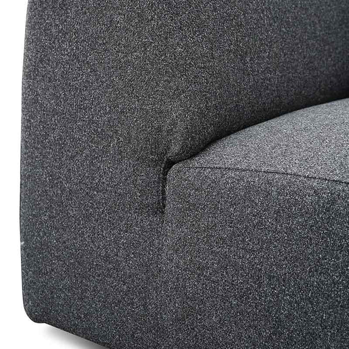 Marlin 3 Seater Left Chaise Fabric Sofa - Dark Grey