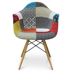 Eames  DAW Dining Armchair - Maple Legs - Multicolour