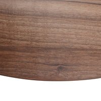 Ramos 100cm Round Office Meeting Table - Walnut