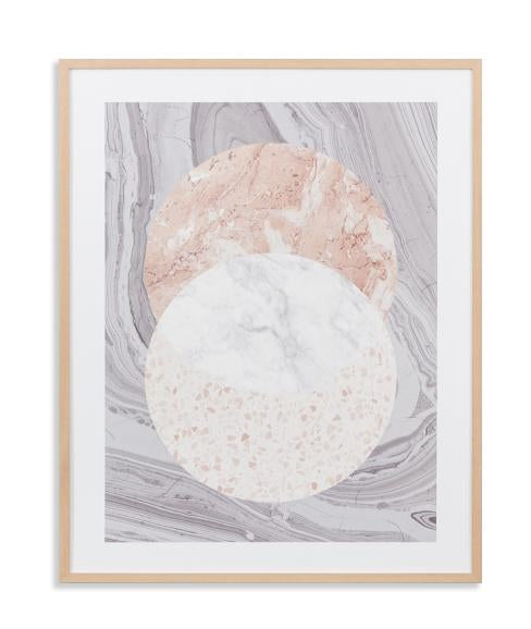 Infinity Wall Art Print - Blush