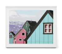 Coloured Houses Photographic Wall Art Print