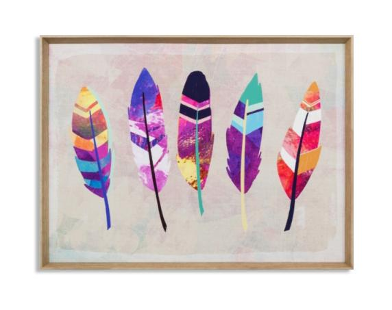 Vibrant Feather Wall Art Print