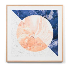 Europa Blue Wall Art Print