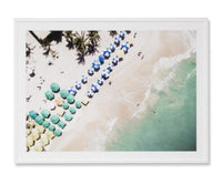 Summer Beach Umbrellas Wall Art Print