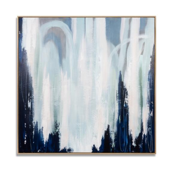 Lisbet Large Hand Painted Abstract Canvas