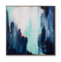 Sadie Framed Hand Painted Abstract Canvas