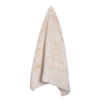 Arlo Faux Fur Throw Rug - Natural