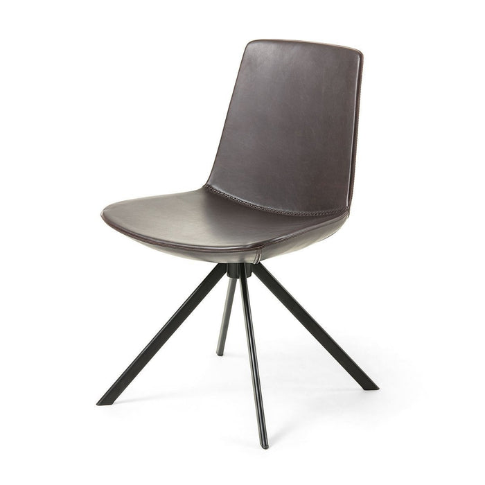 Astra Synthetic Leather Dining Chair -Dark Brown
