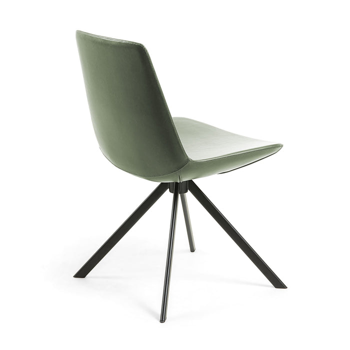 Astra Synthetic Leather Dining Chair - Green