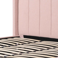 Betsy Fabric King Bed - Blush Pink with Storage