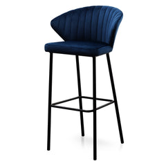 Heidi 75cm Bar Stool - Navy Blue Velvet
