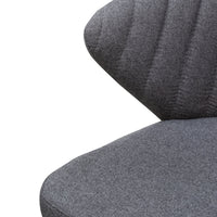 Heidi 75cm Fabric Bar Stool - Grey