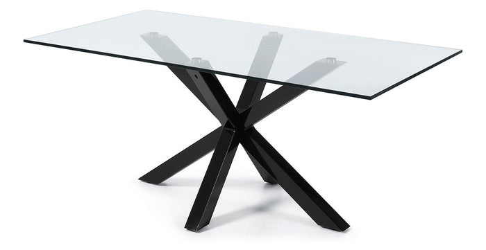 Arya 2m Glass Dining Table - Black