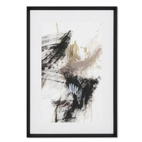 Black, Gold Taupe II Framed Wall Art Print