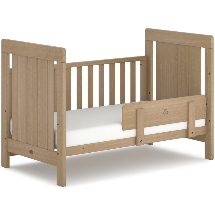 Aura Adjustable Wooden Baby Cot with Mattress - Natural