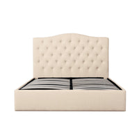 Ethel Fabric Queen Bed Frame - Beige
