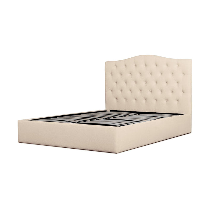 Ethel Fabric King Bed Frame - Beige