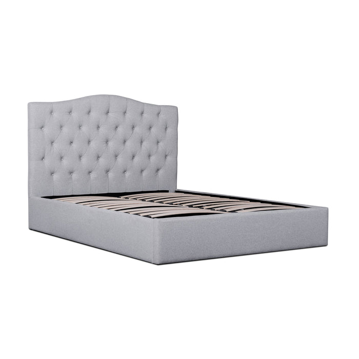 Ethel Fabric King Bed Frame - Rhino Grey