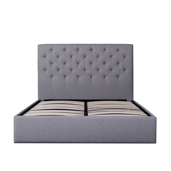 Candace Fabric King Bed Frame - Lunar Grey