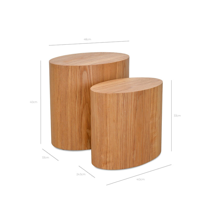 Albin Scandinavian Set of Tables - Natural CF1011-DW