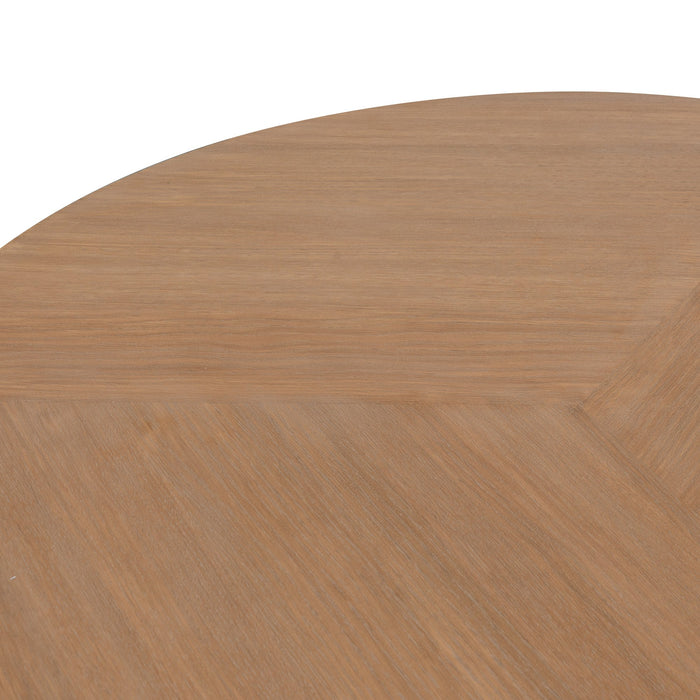 Muriel 110cm Round Coffee Table - Dusty Oak