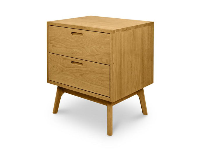Johan Wooden Bedside Table - Natural Oak