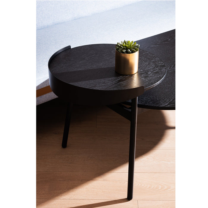 Pena 1.47m Wooden Coffee Table - Full Black