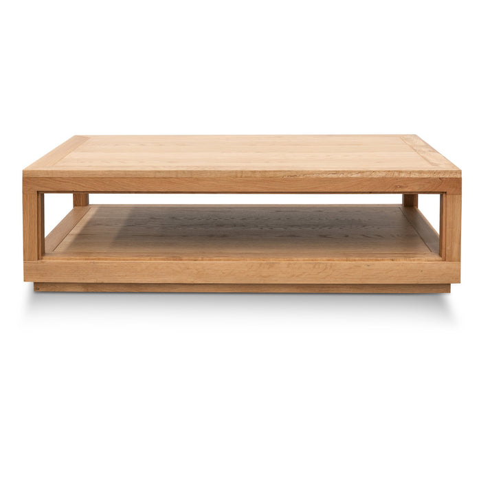 Charlene 1.4m Wooden Coffee Table - Natural