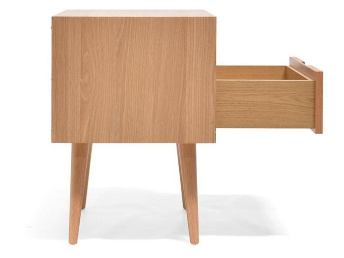 Asta SQ Wooden Bedside Table