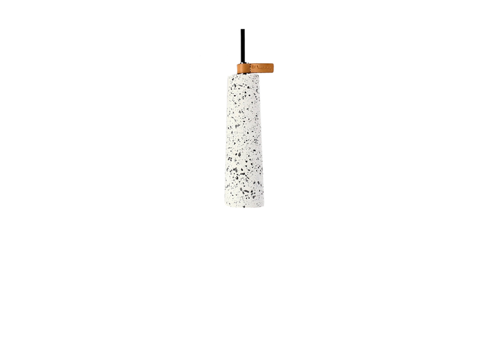 Sutton Terrazzo Concrete Pendant Light - White