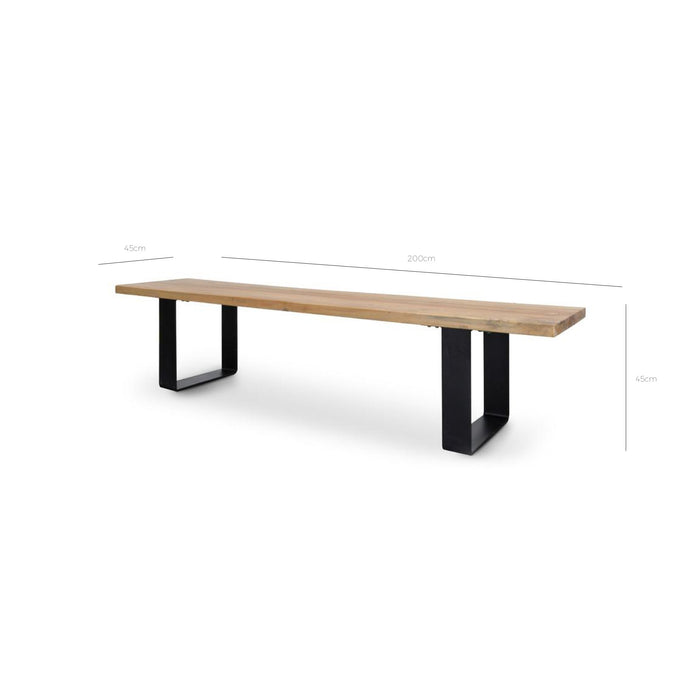 Dalton 2m Reclaimed Wood Bench DB121