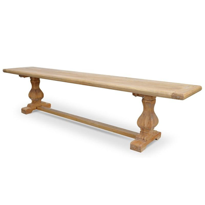 Titan 2m Reclaimed ELM Wood Bench - Natural