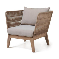 Zane Acacia Wood Fabric Armchair