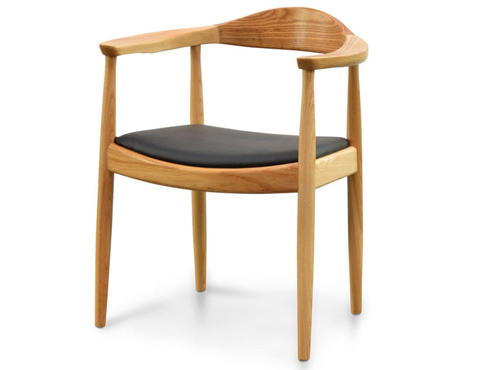 Anders Dining Armchair - Natural with Black Seat