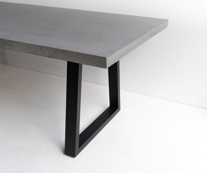 Arlo 1.8m Indoor/Outdoor Natural Dining Table - Black Metal Legs