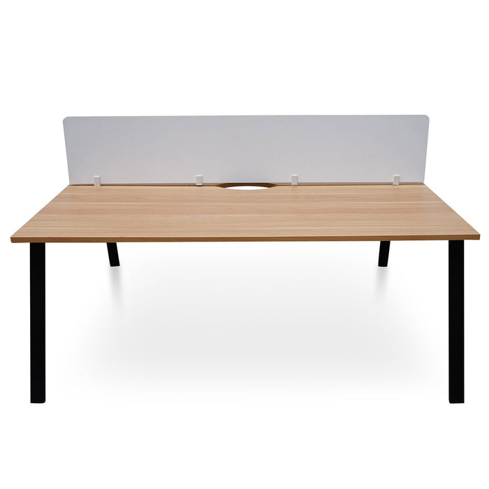 Roca 2 person Office Table - Natural