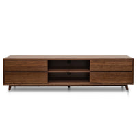 Thor Scandinavian 2m TV Entertainment Unit - Lowline - Walnut