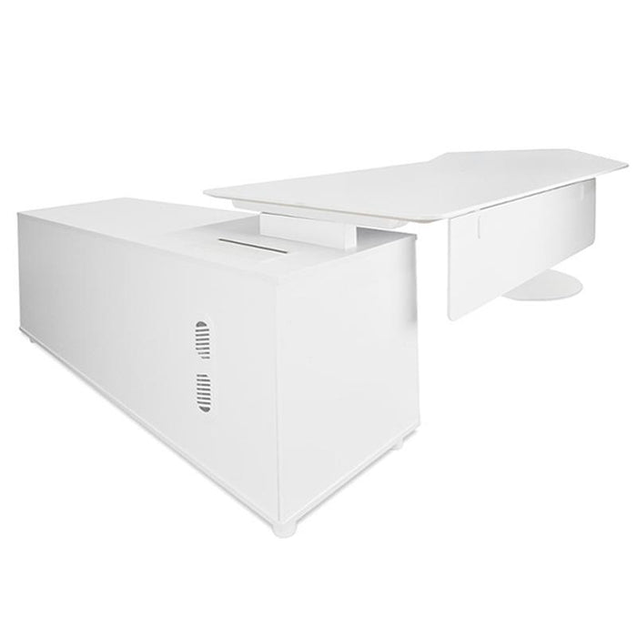 Elite 2.52m Executive Office Desk Right  Return - White