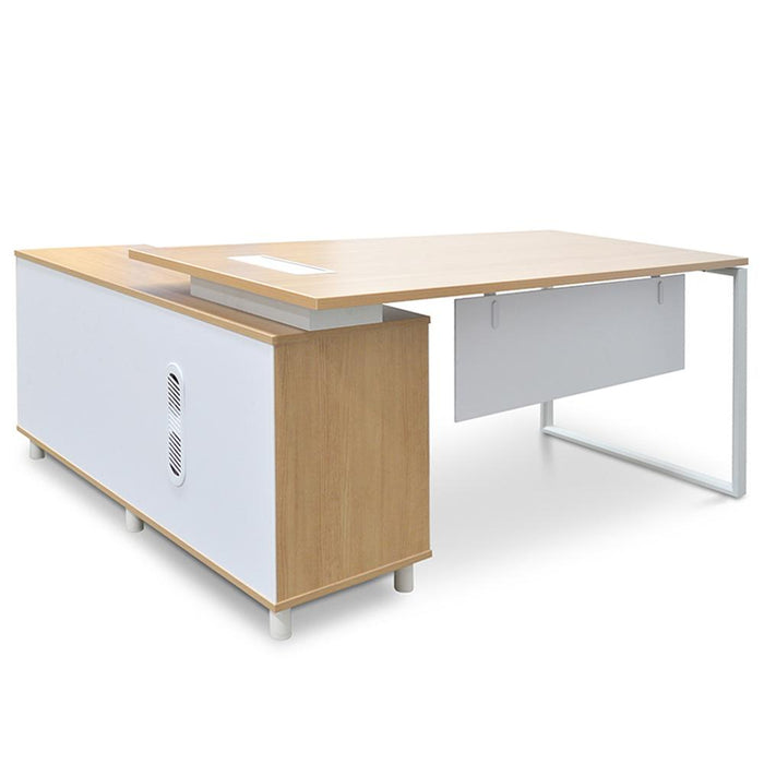 Halo 180cm Executive Office Desk With Right Return - Natural