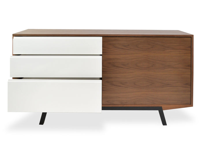 Ex display - Emerson Scandinavian Sideboard Buffet Unit - Walnut