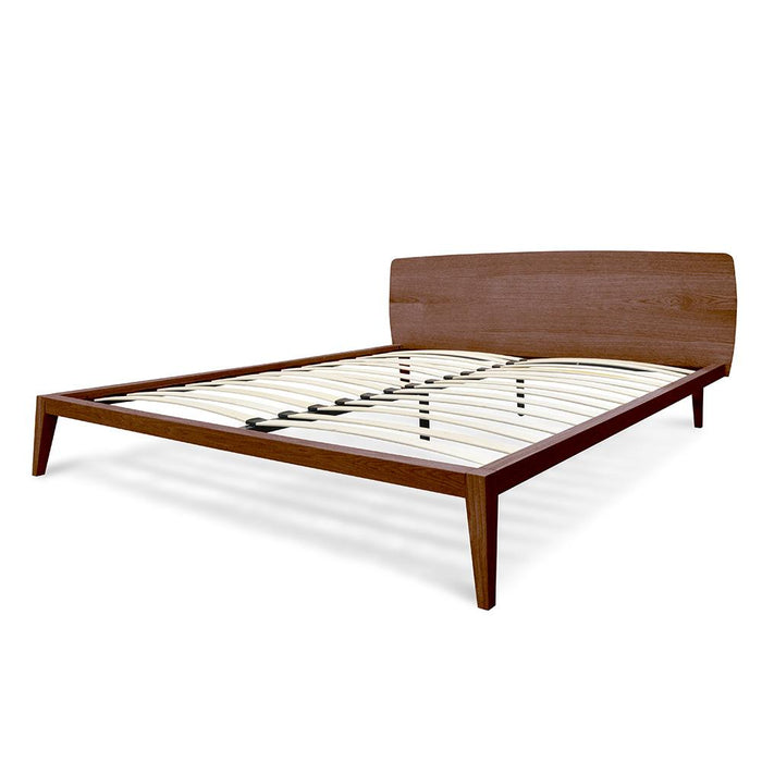 Penley King Sized Wooden Bed Frame - Walnut