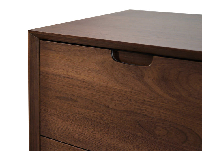 Asta 3 Drawer Chest Scandinavian Design - Walnut