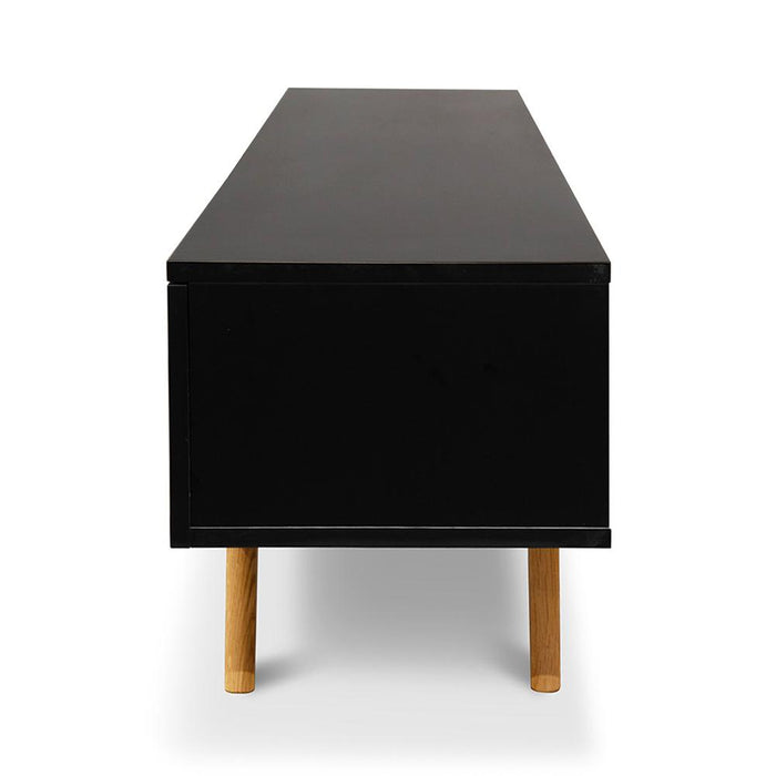Hugo 1.8m Scandinavian TV Unit - Black